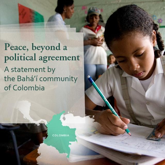 Kolombiyalı Bahailer barış için açık mektup yayınlıyor - 01