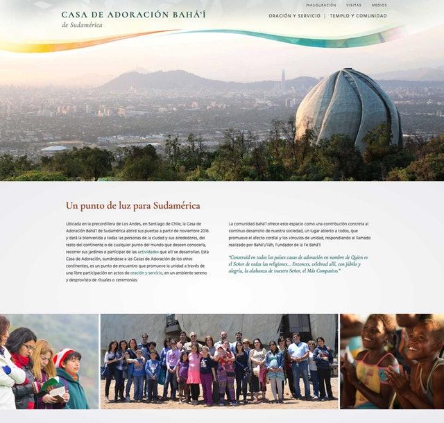 Şili Mabedi için yeni web sitesi yayına açıldı - 01