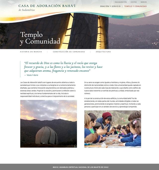 Şili Mabedi için yeni web sitesi yayına açıldı - 02