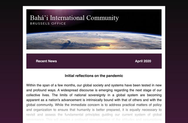 Bahai Uluslararası Toplumu (BIC) Brüksel: İletişimi Sürdürmenin Yollarını Keşfetmek - 01