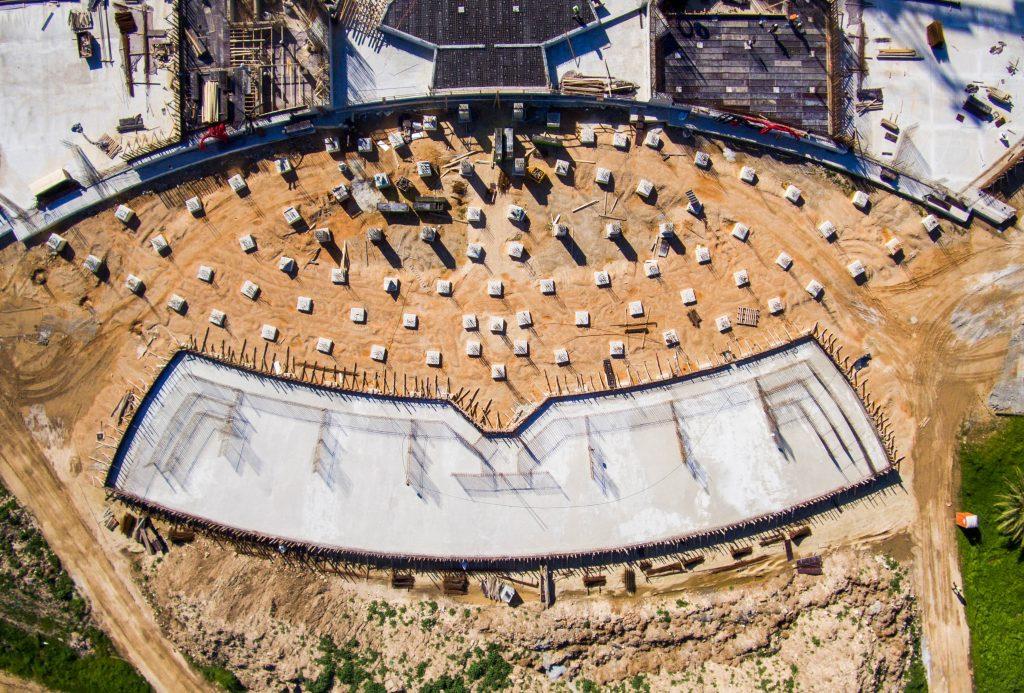 Hz. Abdülbaha'nın Makamı: Bahçe setlerinin beton temelleri tamamlandı